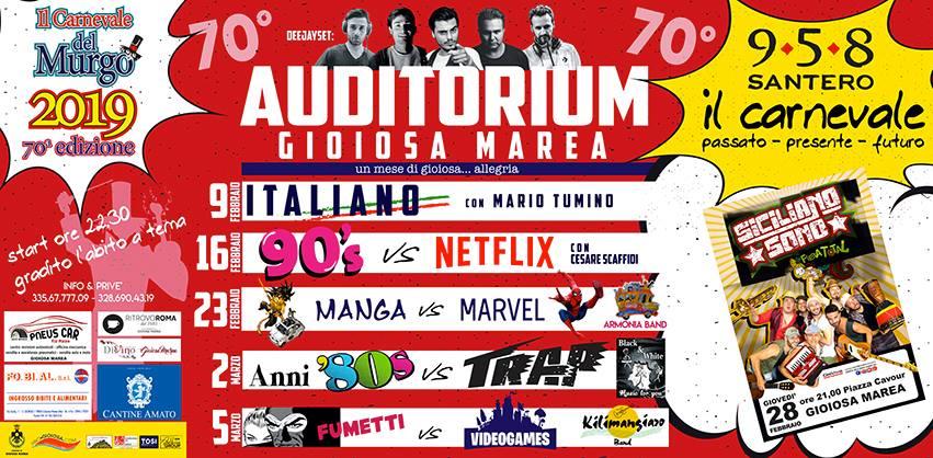 Eventi Auditorium Gioiosa Marea - Carnevale del Murgo