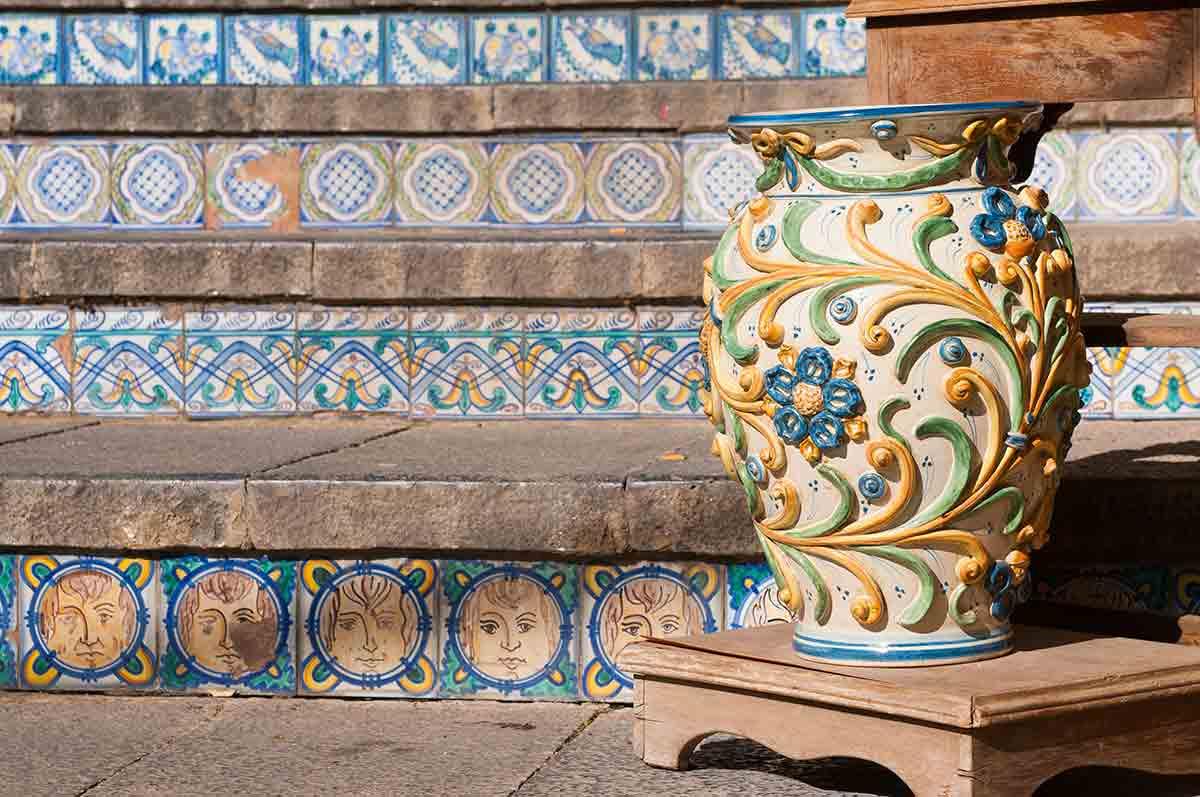 Scala Matrice e Ceramiche di Caltagirone
