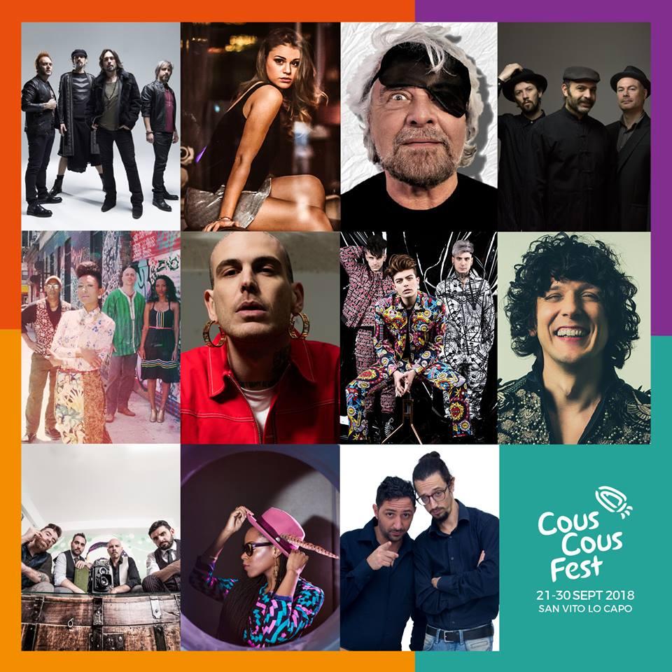 Palinsesto completo Cous Cous Festival 2018