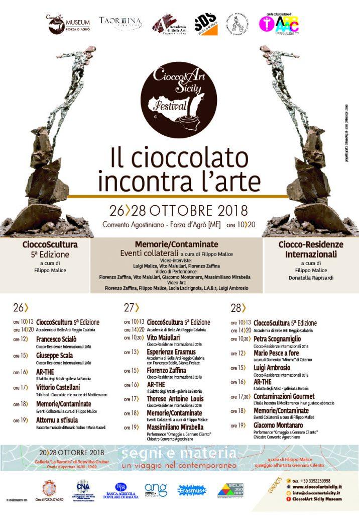 CioccolArt Sicily Festival 2018 Programma