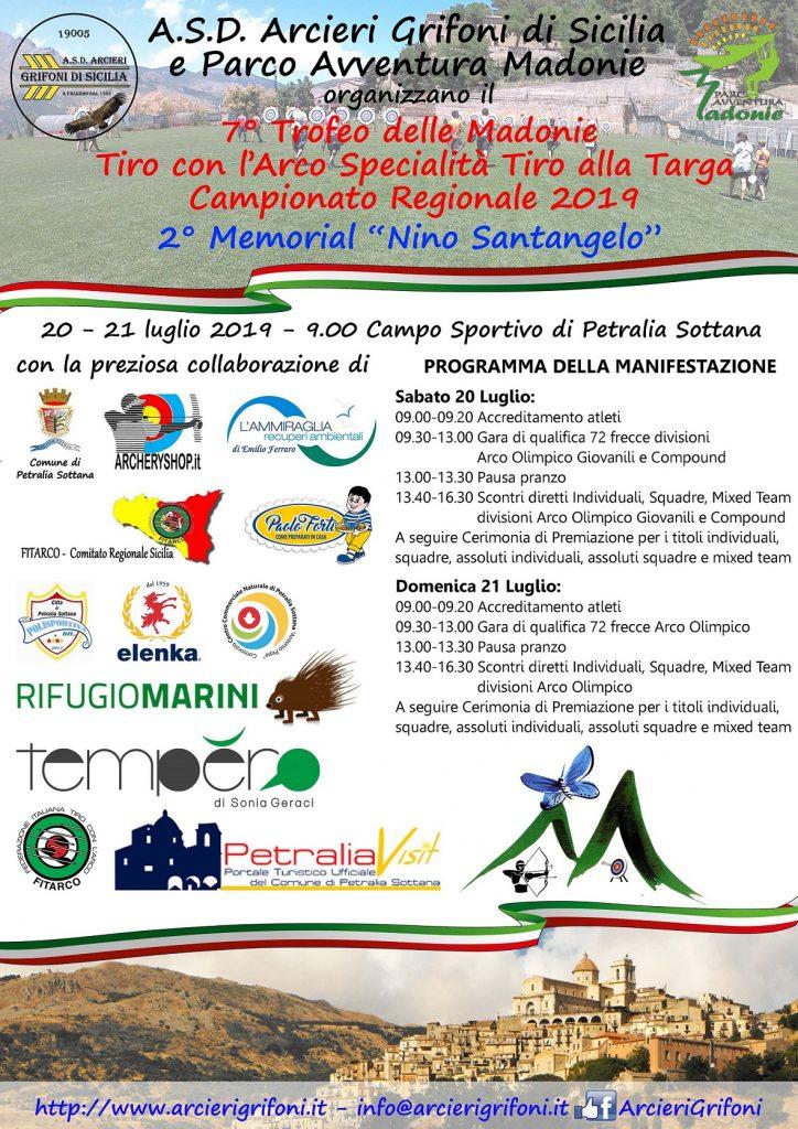 "Tiro con l'arco, campionato regionale Targa a Petralia Sottana: ""7° Trofeo delle Madonie - 2° Memorial Nino Santangelo"""