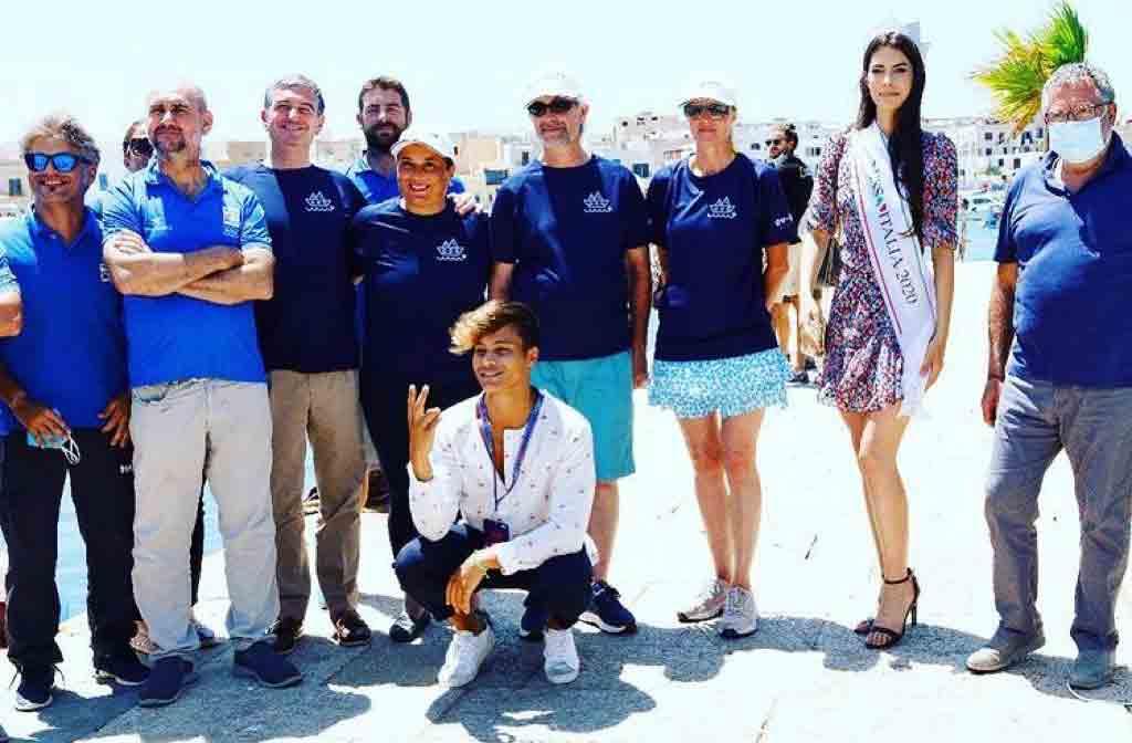 Marettimo Italian Film Fest - foto di gruppo con Miss Italia Martina Sambucini e Denis Dosio influencer